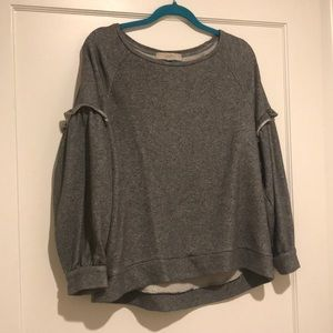 LOFT Sweaters - LOFT RUFFLE SLEEVE SWEATSHIRT NEVER WORN